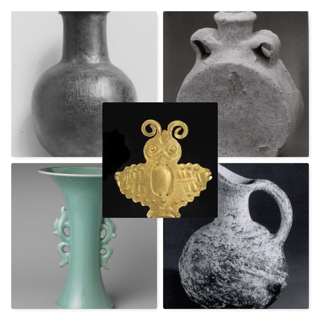 Photos of Five pieces from Antiquity from the Meropolitan Museum of Art, N.Y.